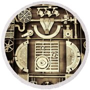 Vulcan Steel Steampunk Round Beach Towel