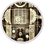 Vulcan Steel  Steampunk Metalworks Round Beach Towel