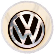 Vw Emblem Round Beach Towel