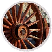 Wagon Wheel Round Beach Towel