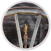 Wagon Wheel Detail Round Beach Towel