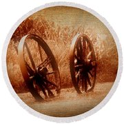 Wagon Wheels Round Beach Towel
