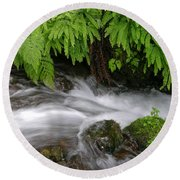 Wahkeena Falls One Round Beach Towel