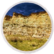 Wahweap Cliff Round Beach Towel