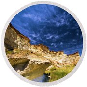 Wahweap Hoodoo Trail Round Beach Towel