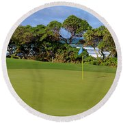 Wailua Golf Course - Hole 17 - 3 Round Beach Towel