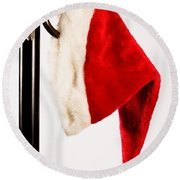 Waiting For Christmas Day Round Beach Towel