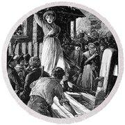 Wales: Rebecca Riots, 1843 Round Beach Towel