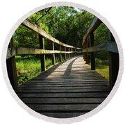 Walk This Way To Nature Round Beach Towel