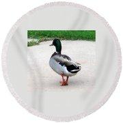 Walking Duck Round Beach Towel