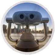 Wall E Round Beach Towel