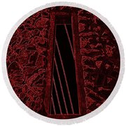 Wall To The Darkside Round Beach Towel