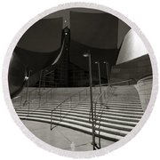 Walt Disney Concert Hall Round Beach Towel