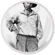 Walt Whitman (1819-1892) Round Beach Towel