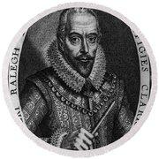 Walter Raleigh, English Courtier Round Beach Towel