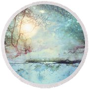 Wandering In The Light Round Beach Towel