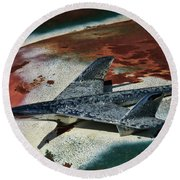 War Bird Round Beach Towel