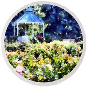 War Memorial Rose Garden  3 Round Beach Towel