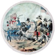 War Of 1812 Battle Of New Orleans 1815 Round Beach Towel by Photo Researchers