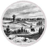 War Of 1812: Bladensburg Round Beach Towel