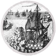 War Of Spanish Succession Round Beach Towel