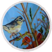 Warbling Verio Round Beach Towel