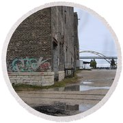 Warehouse And Hoan 2 Round Beach Towel