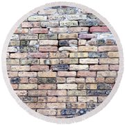 Warehouse Brick Wall Round Beach Towel