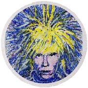 Warhol II Round Beach Towel