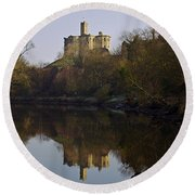 Warkworth Castle Round Beach Towel