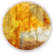Warm Abstract Round Beach Towel by Brett Pfister