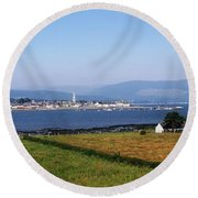 Warrenpoint From Carlingford, Co. Down Round Beach Towel