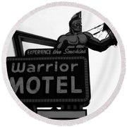 Warrior Motel Round Beach Towel