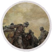 Wars Of America Round Beach Towel