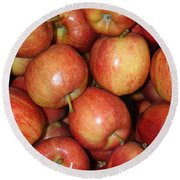 Washington Apples Round Beach Towel