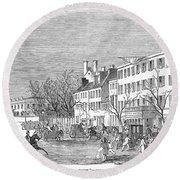 Washington, D.c., 1853 Round Beach Towel