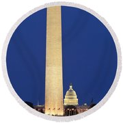 Washington Dc Round Beach Towel