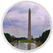 Washington - The Gathering Storm Round Beach Towel