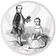 Washingtons Stepchildren Round Beach Towel
