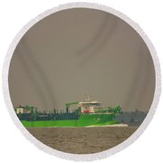 Waste Disposal Round Beach Towel