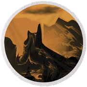 Wastelands Round Beach Towel