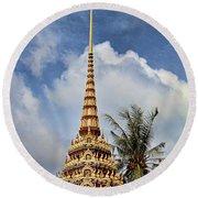 Wat Chalong 5 Round Beach Towel