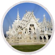Wat Rong Khun Round Beach Towel