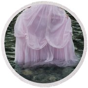 Water Bride Round Beach Towel by Joana Kruse