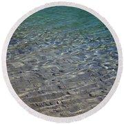 Water Depths Marine Round Beach Towel