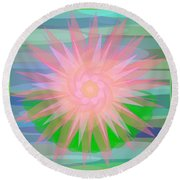 Water Lily 2012 Round Beach Towel