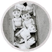 Water Puppets In Hanoi Round Beach Towel
