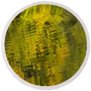 Water Reflection Abstract Autumn 1 D Round Beach Towel