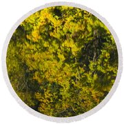 Water Reflection Abstract Autumn 1 F Round Beach Towel