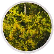 Water Reflection Abstract Autumn 1 G Round Beach Towel